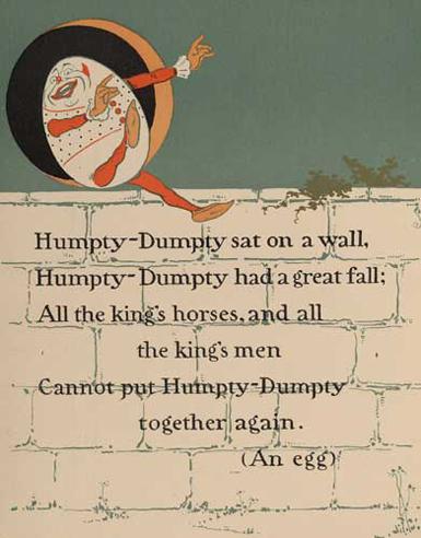 Humpty dumpty poem with