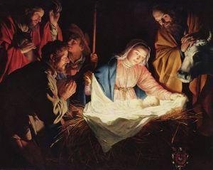 """Adoration of the Shepherds"" by Gerard van Honthorst, 1622"