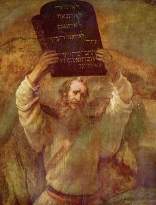 """""""Moses with the Tablets of the Law"""" by Rembrandt, 1659 Credit: Wikipedia"""