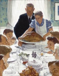 """""""Freedom from Want"""" by Norman Rockwell, 1943. Credit:  arthistory.about.com"""