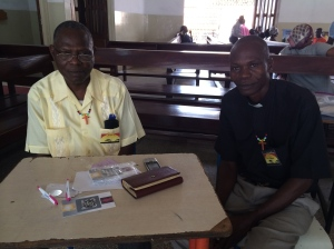 Two terrific pastors assisted in helping triage patients, figuring out what glasses they needed and sharing the gospel with them.