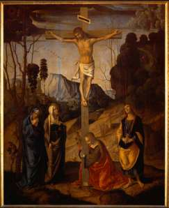 """Crucifixion of Jesus of Nazareth"" by Marco Palmezzano, ca. 1490 Credit: Wikipedia"