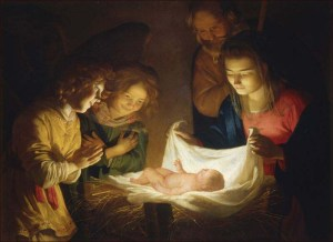 """Adoration of the Children"" by  Gerard van Honthorst, 1620."