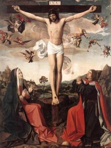 """Calvary"" by Josse Lieferinxe, c. 1500"