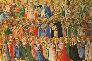 """""""The Forerunners of Christ with Saints and Martyrs"""" by Fra Angelico (1423)"""