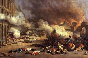 Jean Duplessis-Bertaux, Depiction of the storming of the Tuileries Palace during the French Revolution