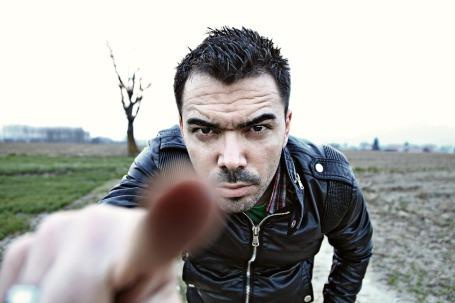 Pointing Face Boy Portrait Finger Hand Man